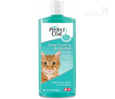 Шампунь для кошек 8in1 PC Shed Control & Hairball Shampoo